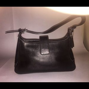 Coach Black Leather Handbag MINT